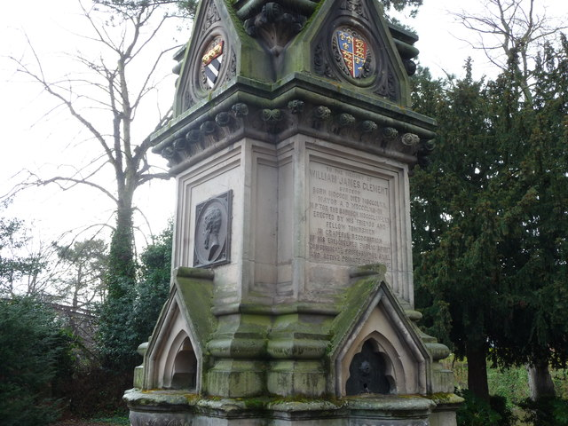The William James Clement monument, Shrewsbury