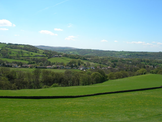 Southwest view from near St. Thomas  Church Mellor