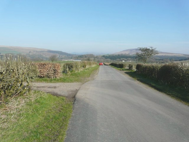 Looking north-northwest along the B6318
