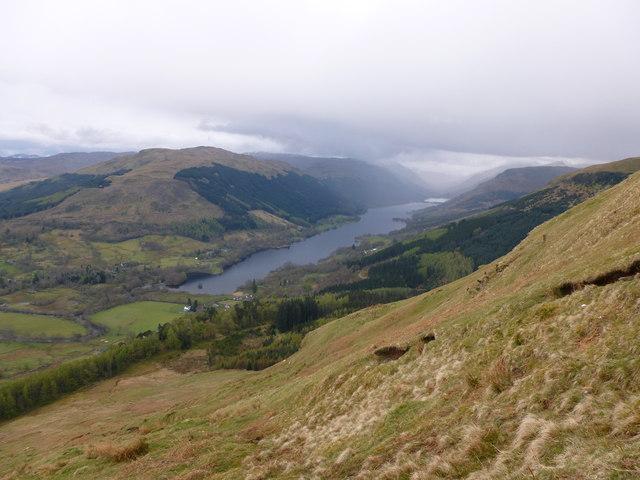 Steep hillside above Creag Mhullaich