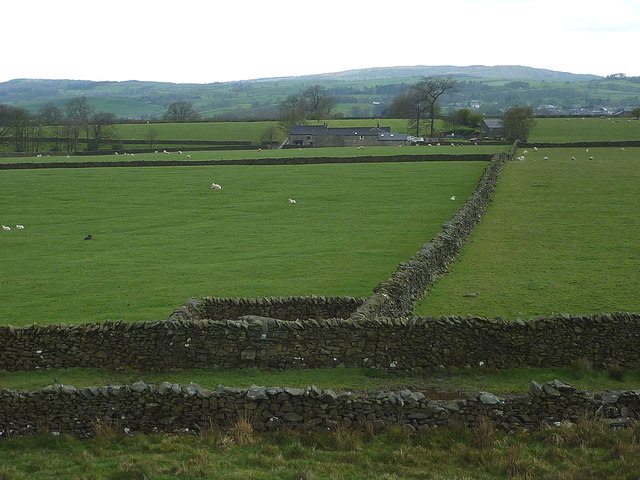 An Andy Goldsworthy sheepfold and Bindloss Farm