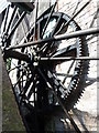 SX9676 : Strand Mill, Dawlish - waterwheel drive gear. by Chris Allen