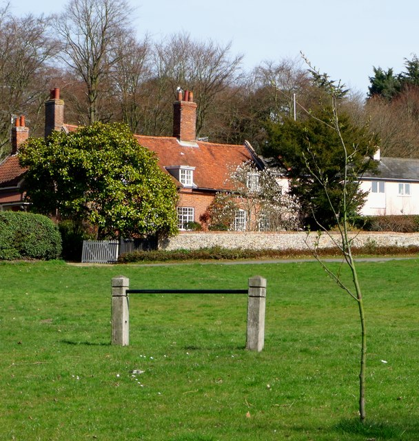 Village green and cottage, Westleton
