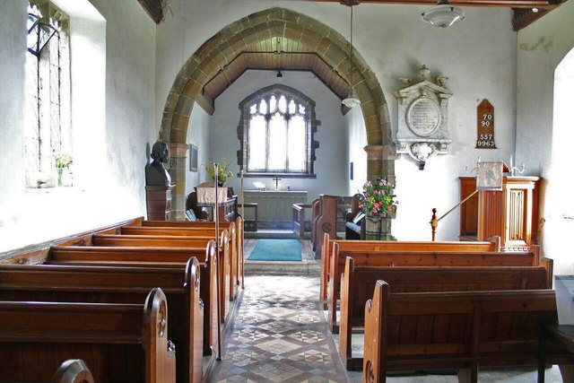 Interior, St Margaret's church, Somersby