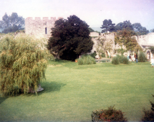 Thorpes tower and pool Saltwood Castle