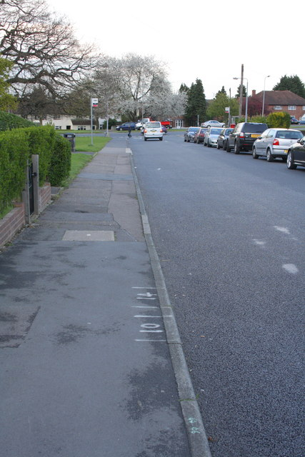 Newmans Lane looking towards the A1168