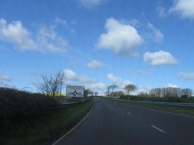 Approaching Warmwell Cross, A352