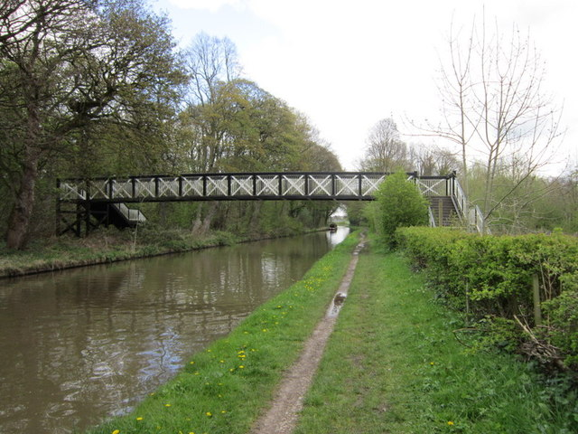 A footbridge over the Trent & Mersey Canal