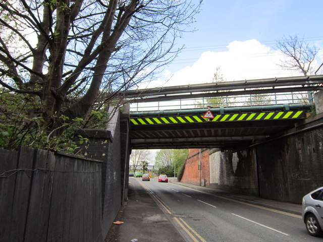 Two rail bridges over Mill Street, Crewe