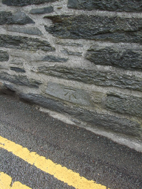 Benchmark at Glan Pwll Penmachno