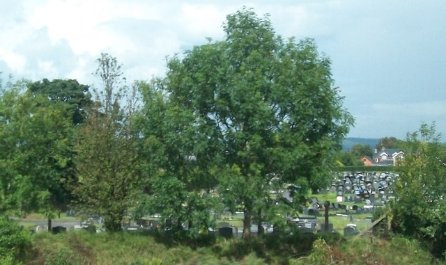 A small section of the large Blaris New Cemetery at Lisburn