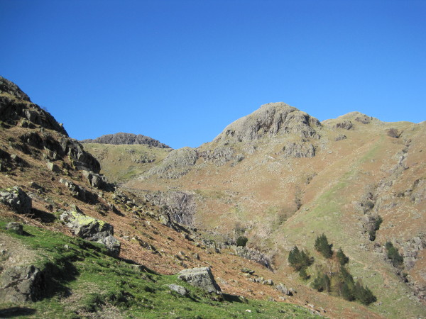 View towards Tarn Crag and Pavey Ark