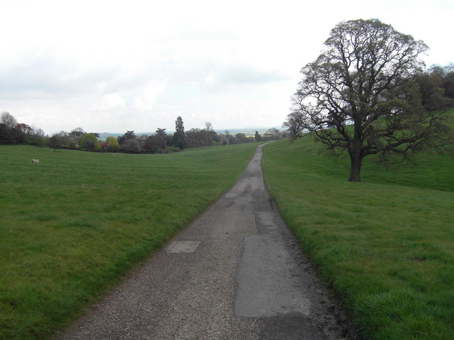 Access road to Hill Farm