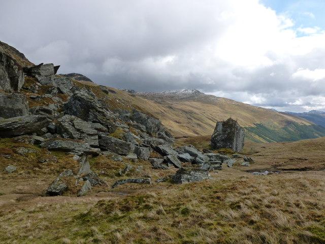 Boulders below Creag an Eireannaich