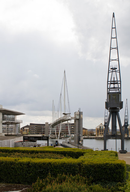 Footbridge Across Royal Victoria Dock