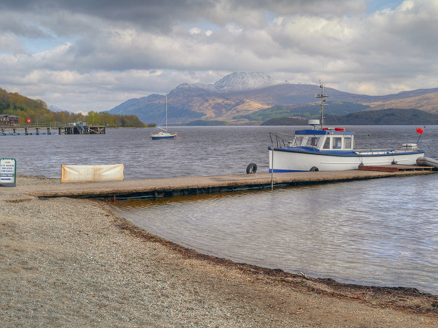 Loch Lomond, Jetty and Ben Lomond