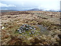 SO2333 : Small path cairn on Darren Lwyd by Jeremy Bolwell