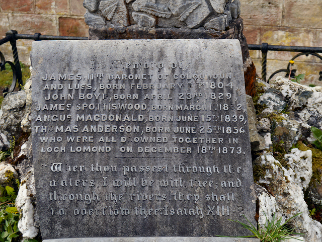 Memorial in Luss Churchyard (detail)