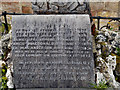NS3692 : Memorial in Luss Churchyard (detail) by David Dixon