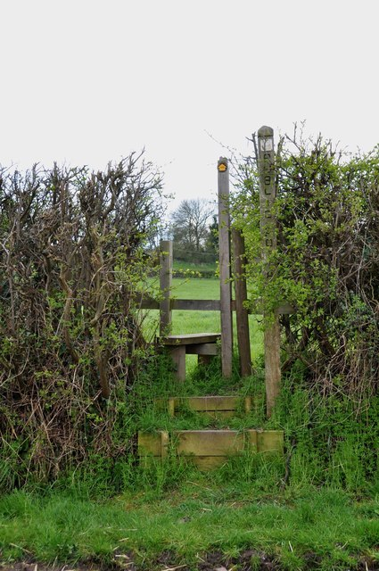 Footpath and Stile near Abbey View Farm, Croxden