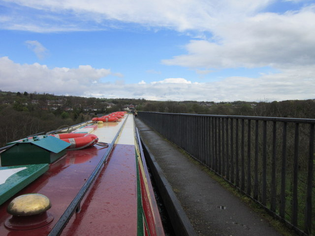 Crossing over the Pontcysyllte Aqueduct