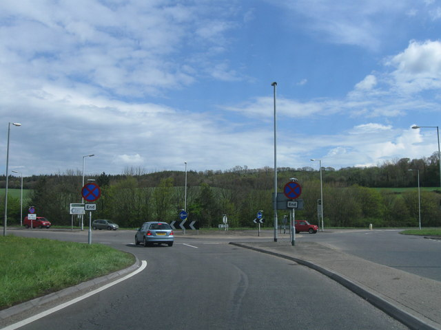 Roundabout, A35 meets A31