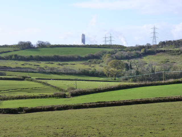Fields and hedgerows near Sherwell