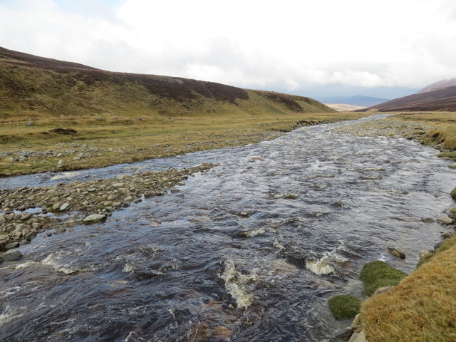 Feithlinn river before it drains into the Dulnain River