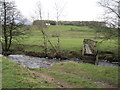 NY5178 : Footbridge and Ford, Bailey Water near Crookburnfoor Bridge by Les Hull