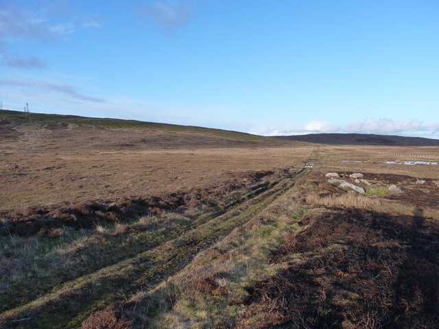 Uphill on the peat-cutters' track