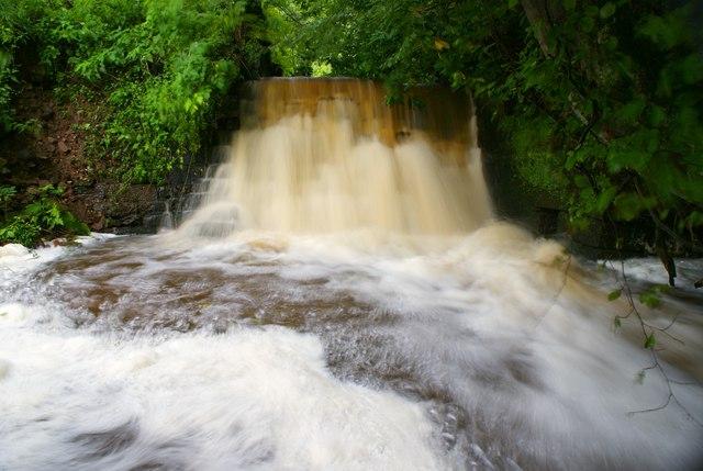 Kirklinton Halls waterfall