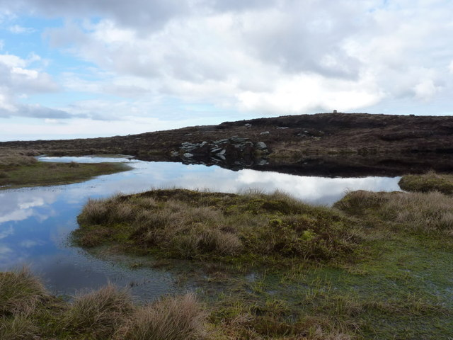 Tiny lochan near the summit of Maireabhal
