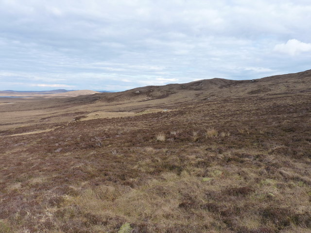 Eastwards on the northern side of Maireabhal