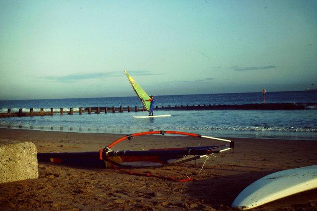 Windsurfing at Fittie