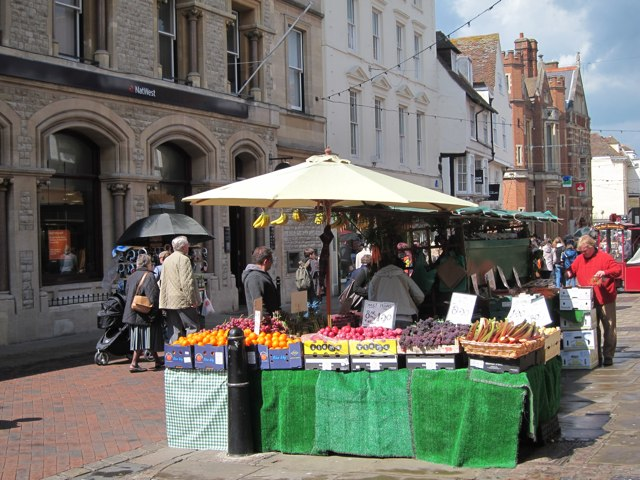 Fruit stall on High Street