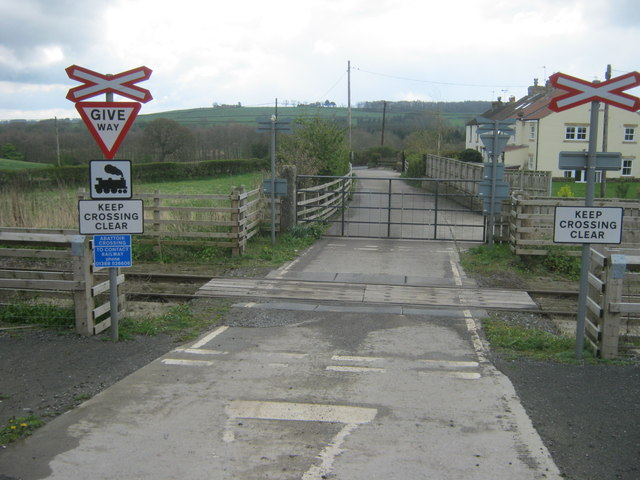 Level crossing near Wear Terrace over The Weardale Railway