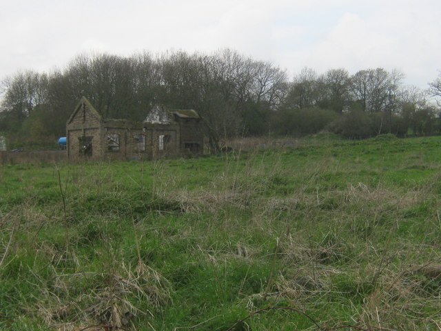 Ruin at site of Marshall Green Colliery near Witton-le-Wear