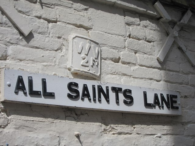 All Saints Lane sign