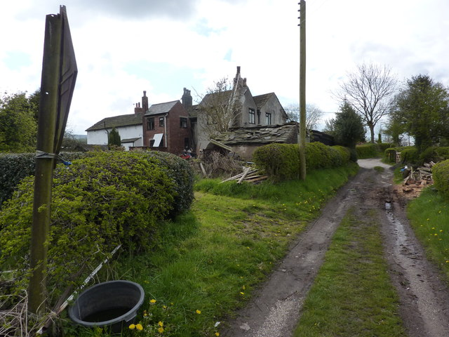 Cottages on a lane off Shrigley Road