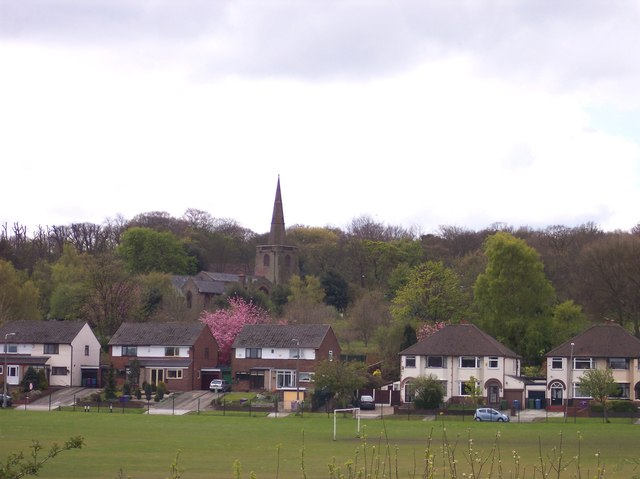 Childwall church from the Trans Pennine Trail