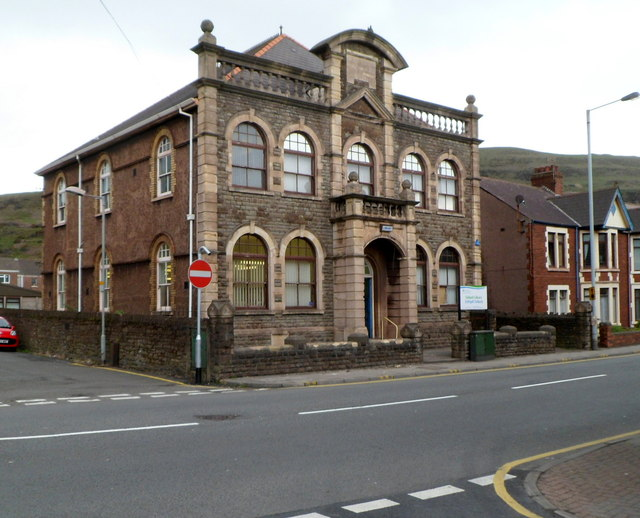 Grade II listed Taibach Library, Port Talbot