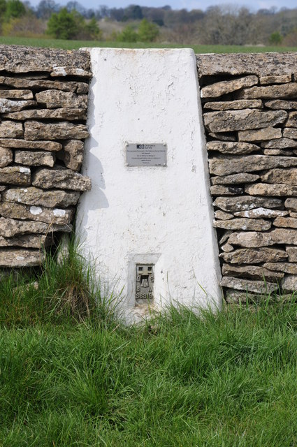 Trig point in a wall
