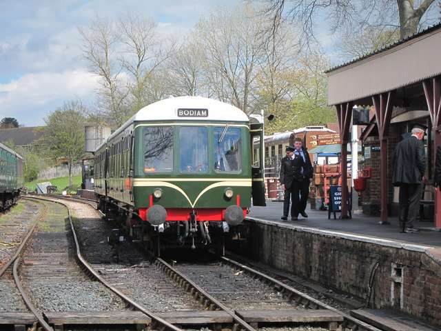 Train at Tenterden Station