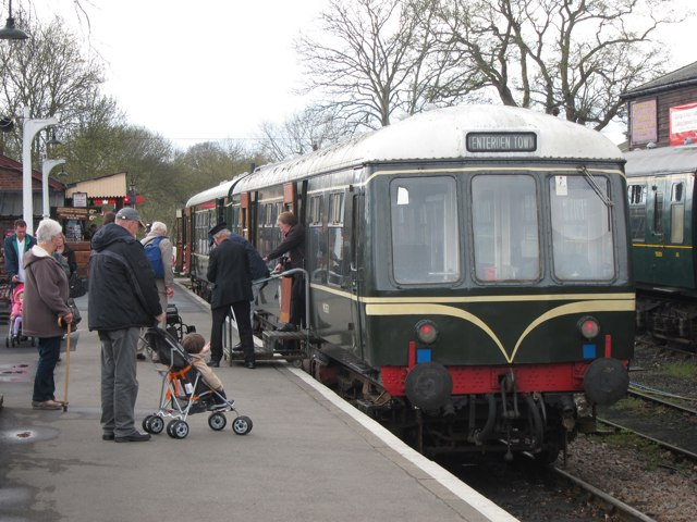 Diesel train at Tenterden Station