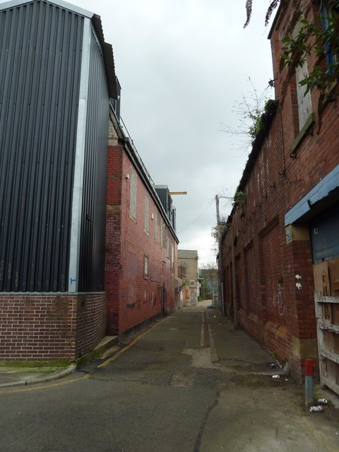 Small access road off Silvester Street
