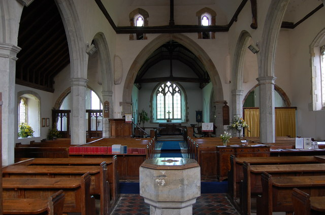 Interior, St Mary's church, Stone in Oxney