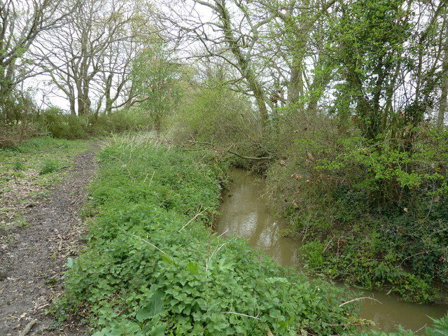 Stream by bridleway to Mill Lane