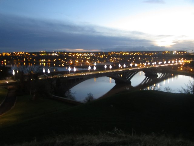 View over the Tweed at dusk