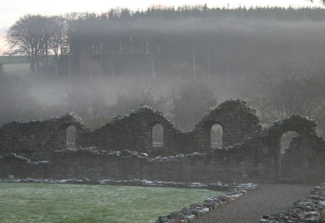 The ruins of the Abbey of Deer