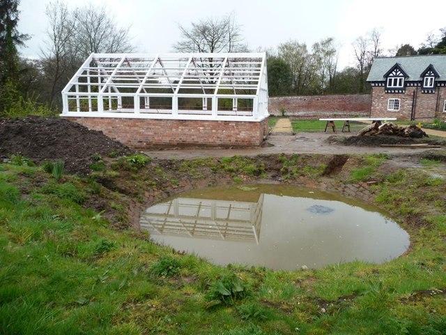 Dipping pond, Quarry Bank upper garden